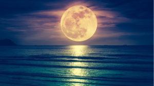 pleine lune mer esprit lunaire